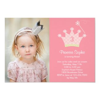 Princess Party Photo Birthday Invitation