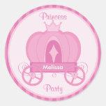 Princess Party Pink Pumpkin Coach Sticker