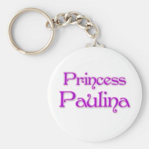 Princess Paulina Basic Round Button Keychain