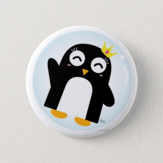 princess penguin in bubble button