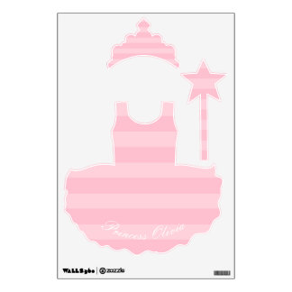 Princess Personalized Removable Fabric Wall Decal
