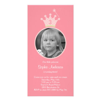Princess Photo Birthday Party Invitation Picture Card