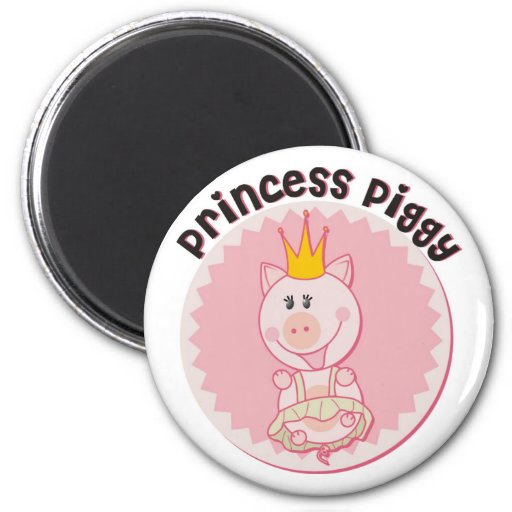 Princess_Piggy 2 Inch Round Magnet