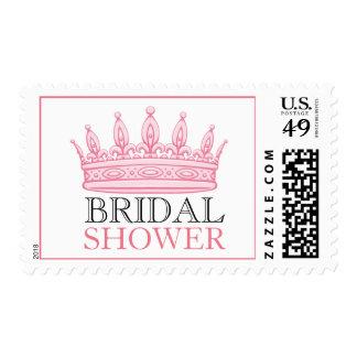 Princess Pink Bridal Shower Custom Postage