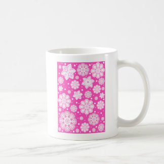 Princess Pink Christmas Snowflake Pattern Coffee Mug