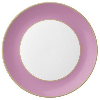 Princess Pink English Country Wedding Plate