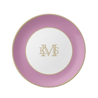 Princess Pink English Country Wedding Porcelain Plate