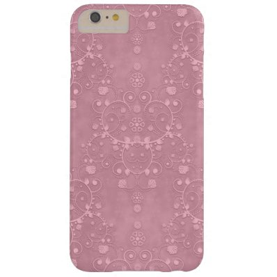 Princess Pink Fancy Girly Floral Damask Pattern Barely There iPhone 6 Plus Case