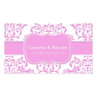 Princess Pink Floral Damask Business Card Templates