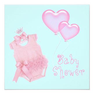 Princess Pink  Girl Baby Shower Invitation