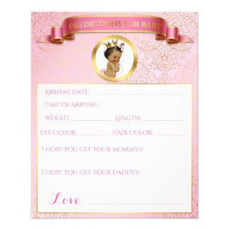 Princess Pink Gold African American Games Flyer