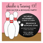 Princess Pink Let's Have a Ball Bowling Party Custom Invitations