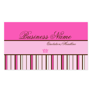 Princess Pink Little Crown Business Cards