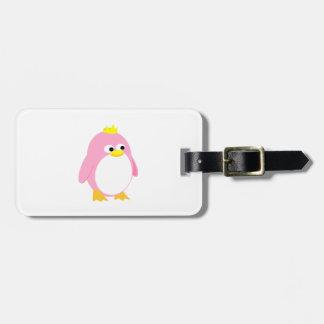 Princess pink penguin cartoon bag tags