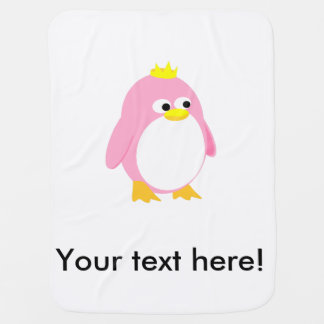 Princess pink penguin  cartoon swaddle blankets