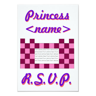 Princess Pink/Pink Castle First Birthday Party R.S Card