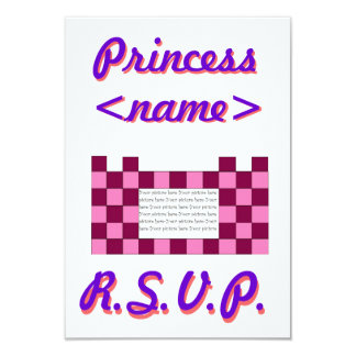 Princess Pink/Pink Castle Third Birthday Party R.S Card