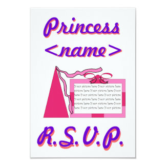 Princess Pink/Pink Hat Second Birthday Party R.S.V Card