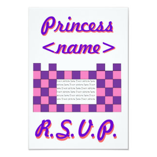 Princess Pink/Purple Castle First Birthday Party R Card