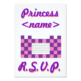 Princess Pink/Purple Castle Second Birthday Party Card
