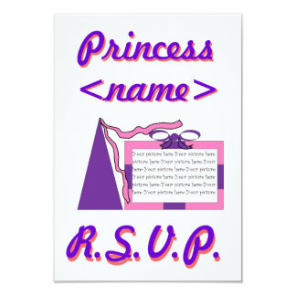 Princess Pink/Purple Hat Second Birthday Party R.S Card