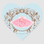 Princess Pink tutu Blue Birthday Party Sticker