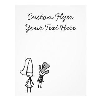 Princess & Pirate Doodle Flyer