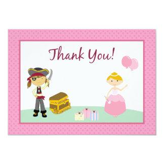 Princess & Pirate Flat Thank-You Card