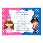 "Princess Pirate Invitation with Polka Dots 5"" X 7"" Invitation Card"