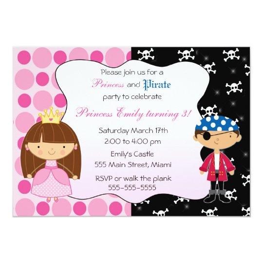Princess pirate kids birthday party invitations zazzle princess pirate kids birthday party invitations filmwisefo