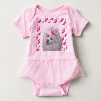 Princess Pomeranian by Carol Zeock Baby Bodysuit