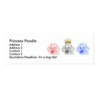 Princess Poodles Profile Card Business Card