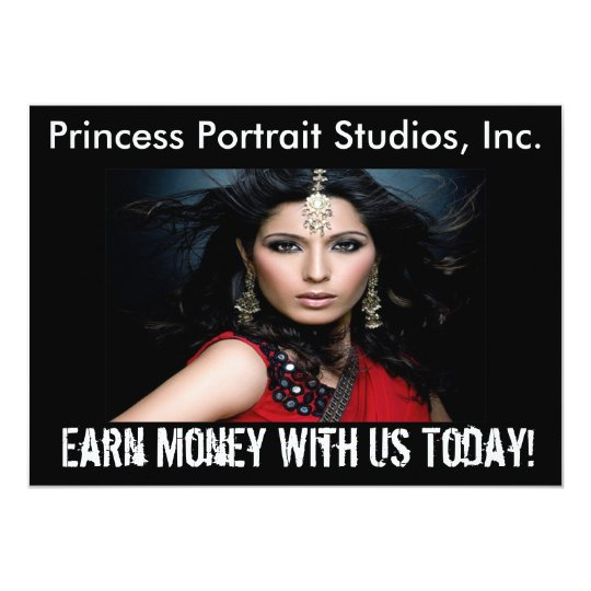 Princess Portraits - Earn Money Invitation