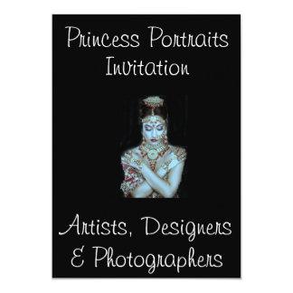 PRINCESS PORTRAITS INVITATION @ ZAZZLE