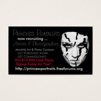 PRINCESS PORTRAITS MARKETING BUSINESS CARDS