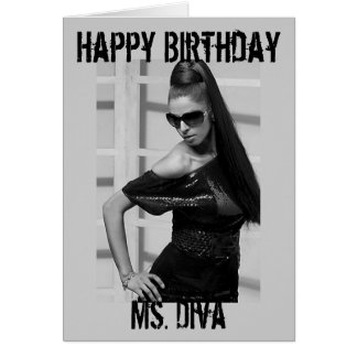 "Princess Portraits ""Ms. Diva"" Happy Birthday Card"