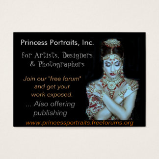 PRINCESS PORTRAITS REFERRALS BUSINESS CARD