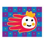Hand shaped Princess Postcard