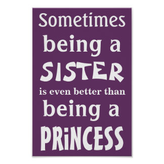 Princess poster for sisters