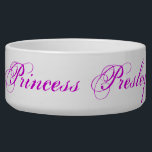 "Princess Presley Dog Bowl<br><div class=""desc"">A dog bowl fit for a Princess.</div>"