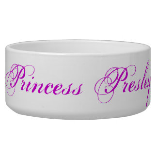 Princess Presley Dog Bowl