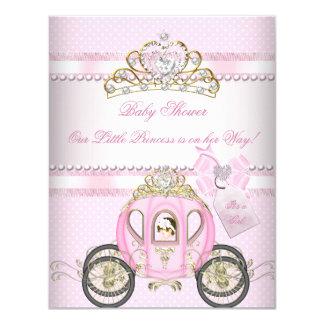 Princess Pretty Baby Shower Cute Girl Carriage Card