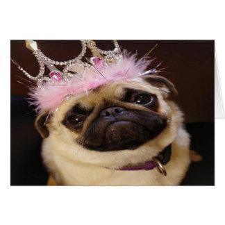 Princess Pug Card