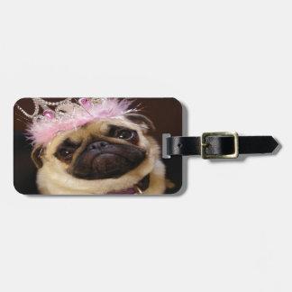 Princess Pug Luggage Tag
