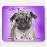 princess pug mouse pads