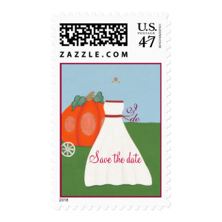 Princess Pumpkin Carriage Save the date Stamps