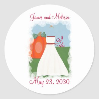 Princess Pumpkin Save the date wedding stickers