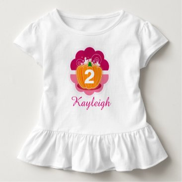 Halloween Themed Princess Pumpkin With Custom Age & Name - Toddler T-shirt