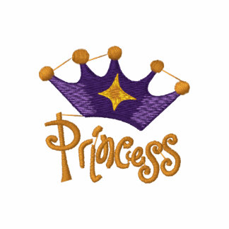 Princess Purple Crown Embroidered Tees - Add Text
