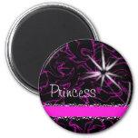 Princess Purple Marble Bling Magnet